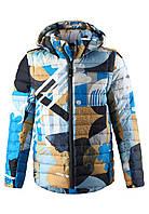 Демисезонная куртка для мальчика 2 в 1 Reima Flykt 531441-7391. Размеры 110 - 134.