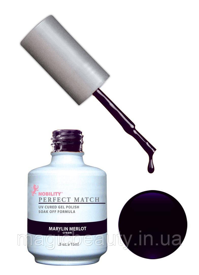 Гель-лак Lechat Perfect Match 04 Marilyn Merlot - темно-сливовый, матовый, 15 мл