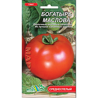 Томат Богатырь Маслова круглый, красный высокорослый среднеспелый, семена 0.1г