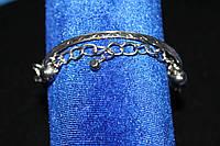 Стильный серебристый женский браслет на руку