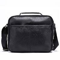 Мужская черная,стильная сумка через плечо  OSKO Messenger 1