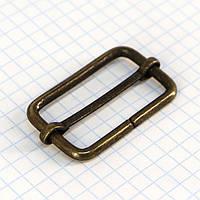 Регулятор пряжка перетяжка 35 мм антик для сумок t4187 (20 шт.)