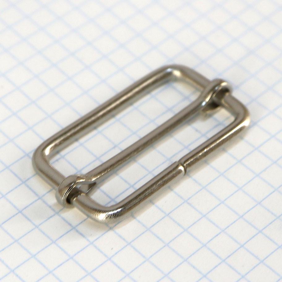 Регулятор пряжка перетяжка 35 мм никель для сумок t4187 (20 шт.)