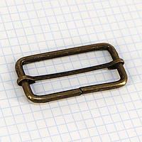 Регулятор пряжка перетяжка 50 мм антик для сумок t4183 (20 шт.)