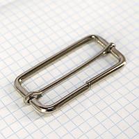 Регулятор пряжка перетяжка 50 мм никель для сумок t4183 (20 шт.)