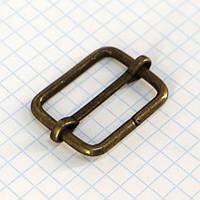 Регулятор пряжка перетяжка 25 мм антик для сумок t4188 (40 шт.)