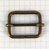 Регулятор пряжка перетяжка 25 мм антик для сумок t4188 (20 шт.), фото 2