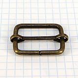 Регулятор пряжка перетяжка 25 мм антик для сумок t4188 (20 шт.), фото 4