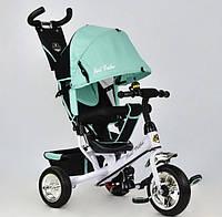 """Детский велосипед трёхколёсный 6588 - 0120 БИРЮЗОВЫЙ """"Best Trike"""", с ручкой, дитячий велосипед ровер"""