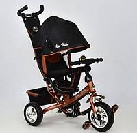 """Детский велосипед трёхколёсный 6588 - 1240 БРОНЗОВЫЙ """"Best Trike"""", с ручкой, дитячий велосипед ровер"""