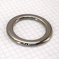 Кольцо литое плоское 32*6 мм никель для сумок a5692 (6 шт.)