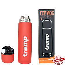Термос Tramp Basic червоний 1 л. Термоси термокружки.Термос трамп