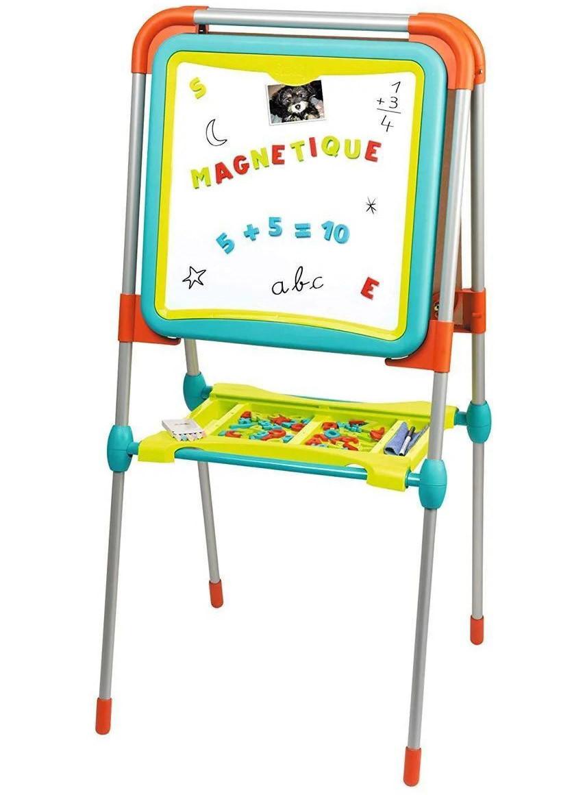 """Детский двухсторонний мольберт """"Буквы и цифры"""" Smoby 410103 доска для рисования для детей"""