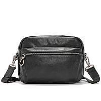 Мужская черная,стильная сумка через плечо  OSKO Messenger 2