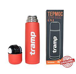 Термос Tramp Basic червоний 0,75 л. Термоси термокружки.Термос трамп