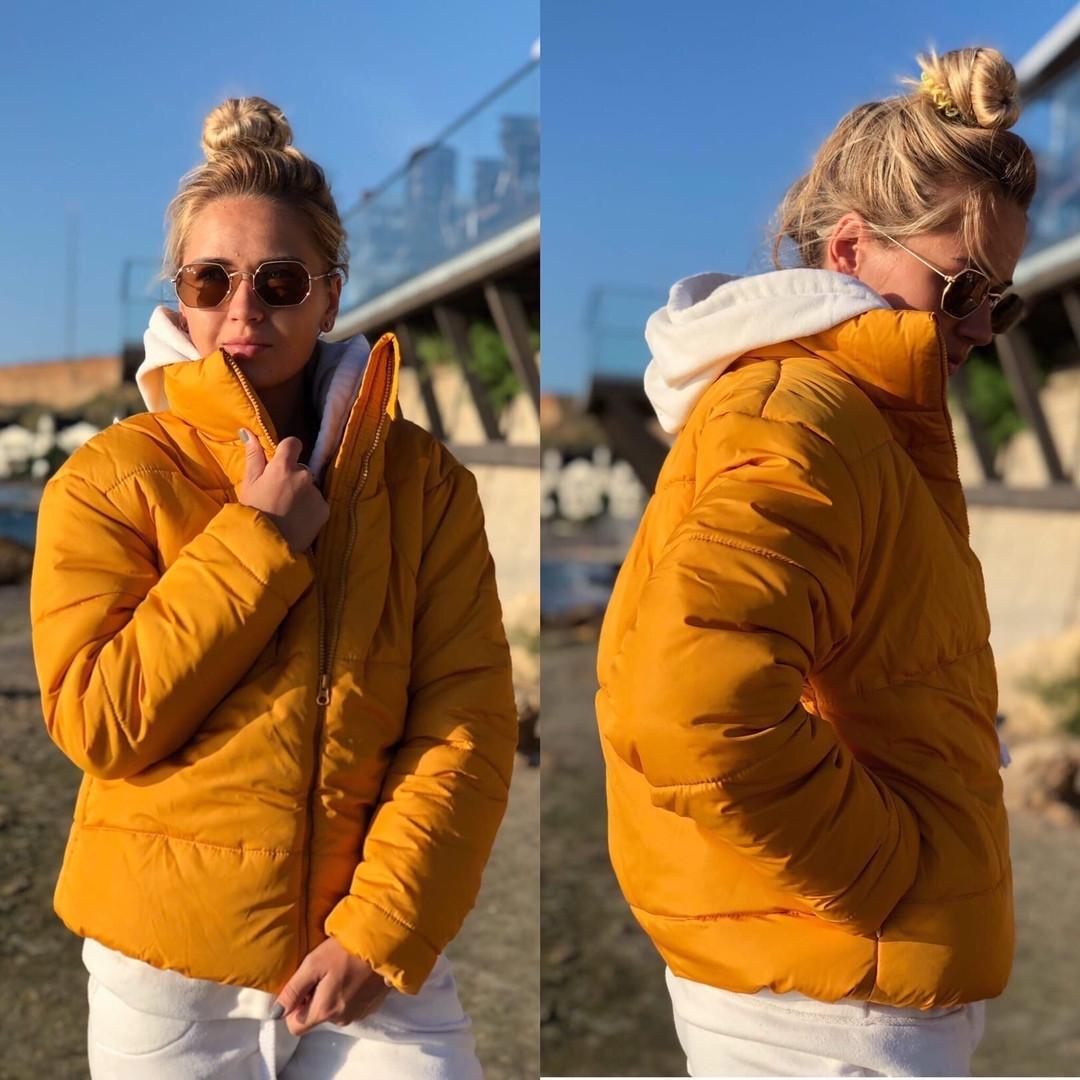 Женская модная дутая курточка синтепон 200
