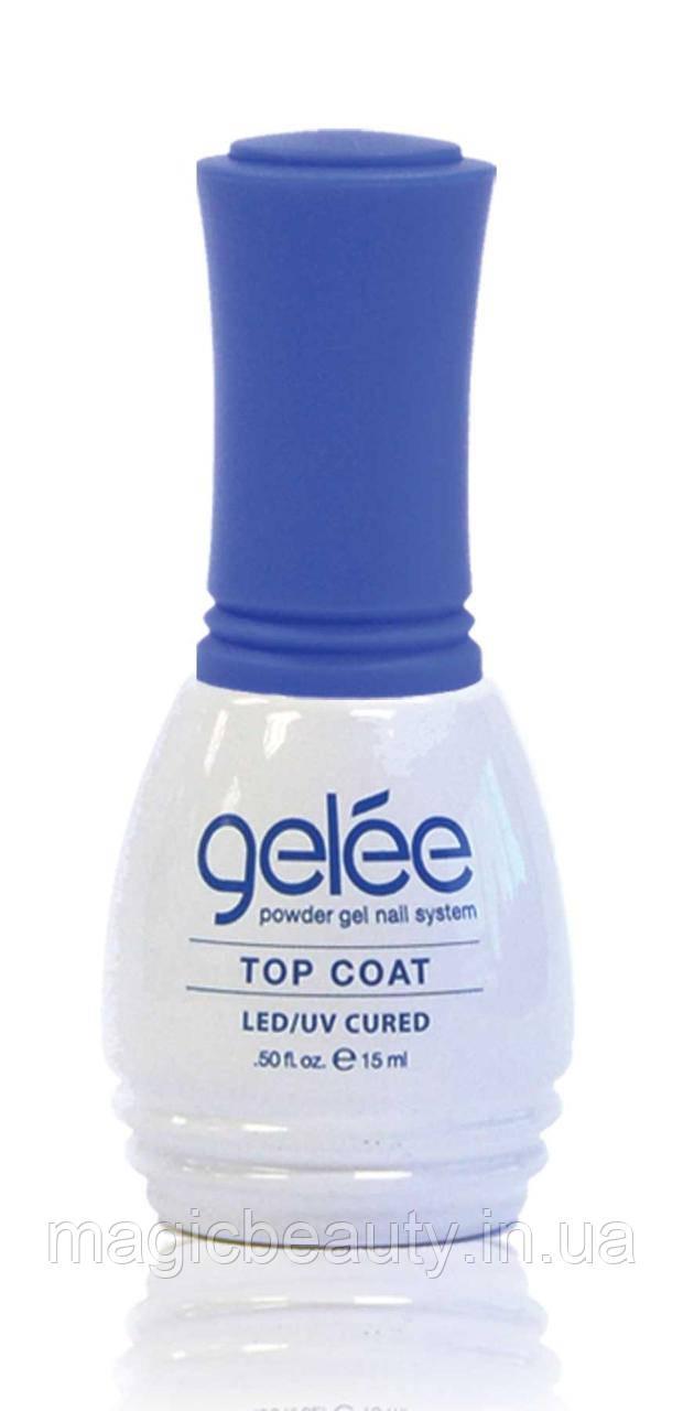 Финишный топ-гель Lechat Gelee Top Coat - верхнее покрытие для геля, гель-лака и гель-пудры, 15 мл