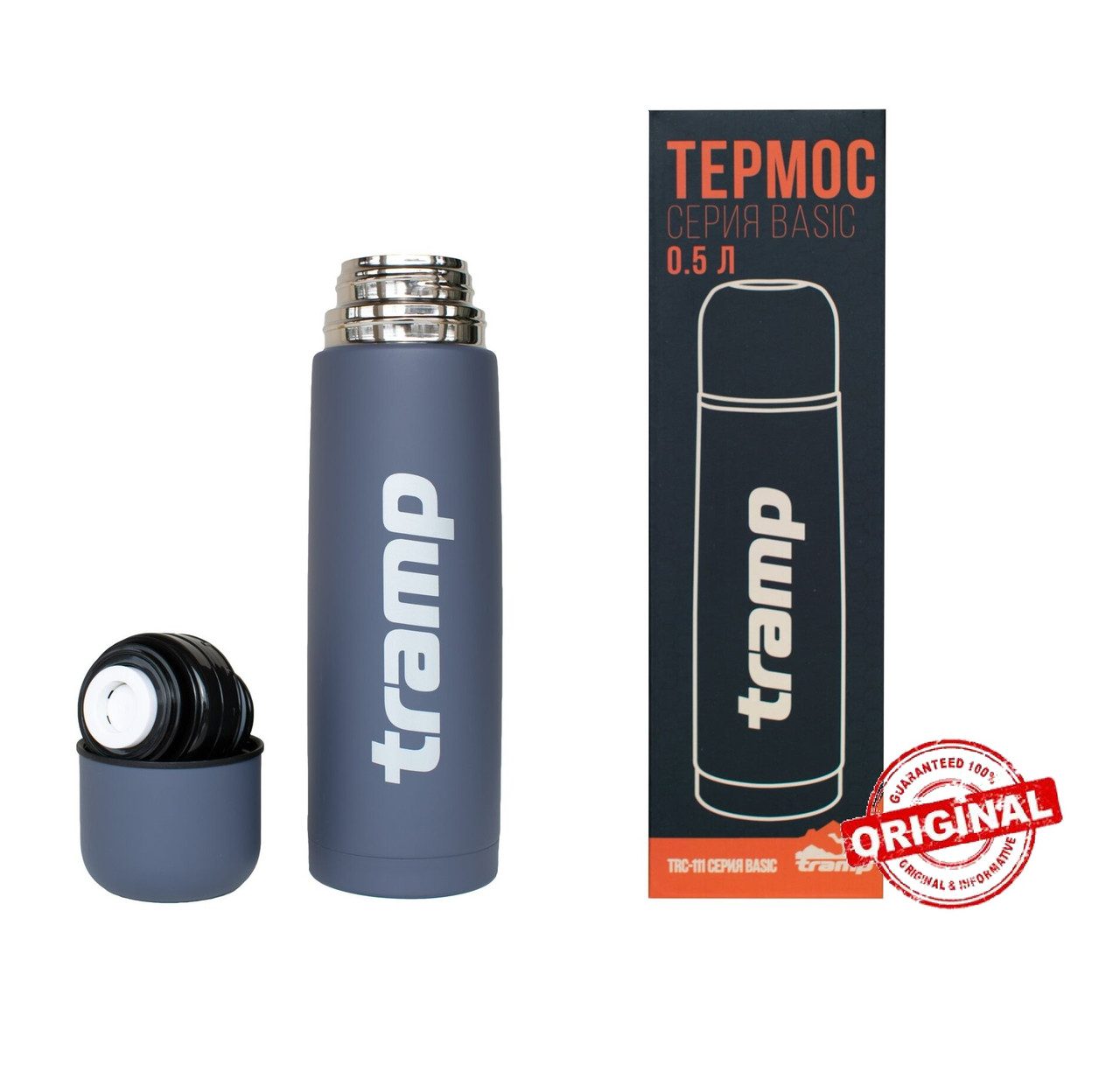 Термос Tramp Basic сірий 0,5л. TRC-111-grey Термос трамп
