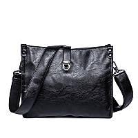 Мужская черная,стильная сумка через плечо  OSKO Messenger bag mini 2