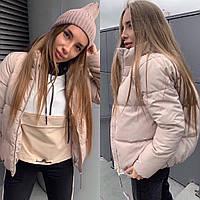 Женская модная стеганная курточка синтепон 200, фото 1