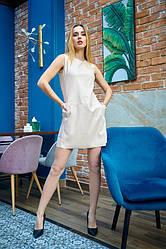Сукня з еко-шкіри 1230.3 колір беж
