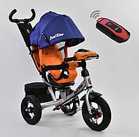 Детский трёхколёсный велосипед 7700 В - 1280 Best Trike Оранжевый, поворотное сиденье, фара, с ручкой
