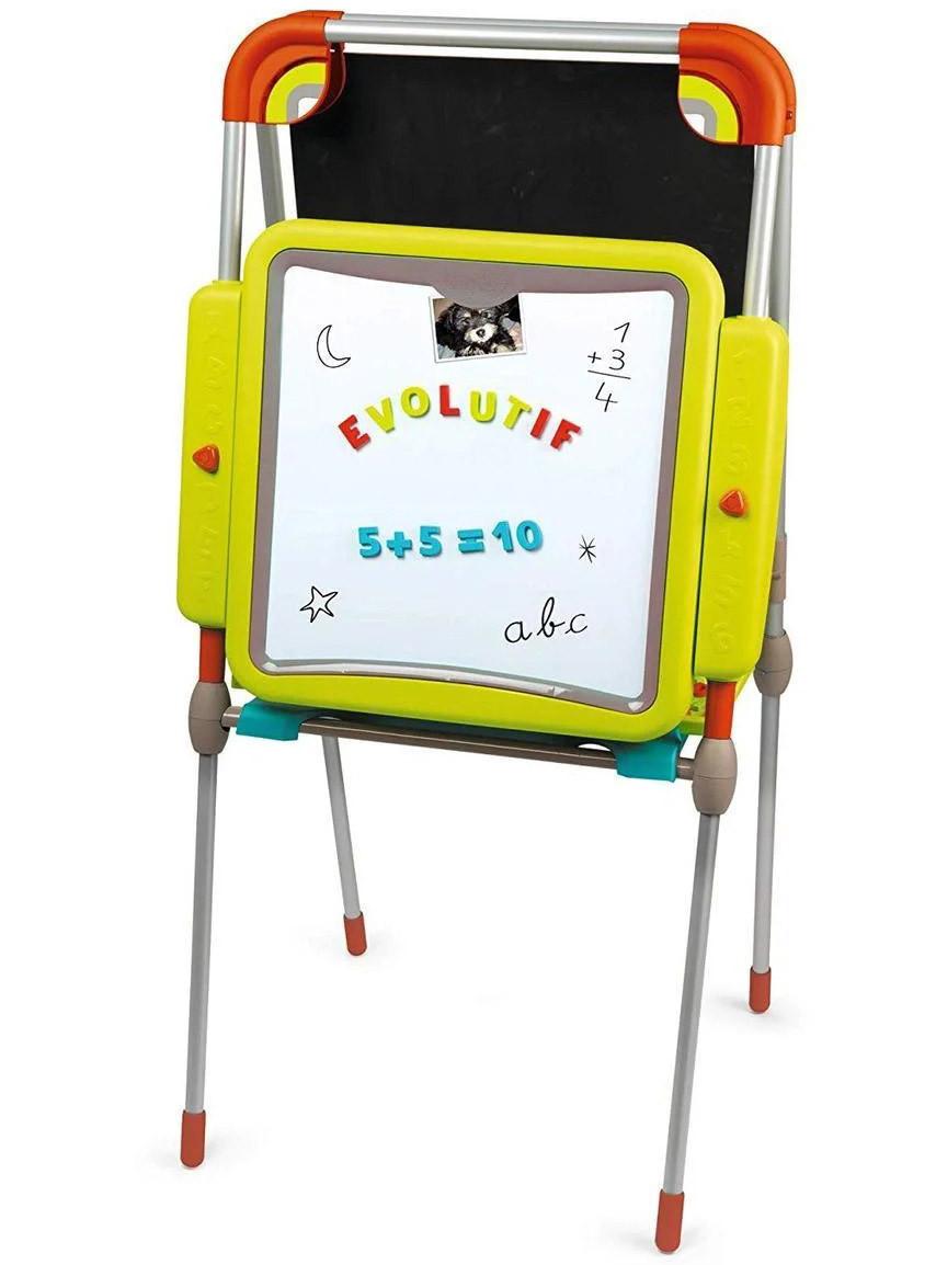 """Детский двухсторонний мольберт """"Буквы и цифры"""" регулируемый Smoby 410205 доска для рисования для детей"""