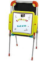 """Детский двухсторонний мольберт """"Буквы и цифры"""" регулируемый Smoby 410205 (дошка для малювання)"""