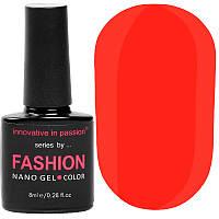 Гель-лак Innovative in Passion серия Fashion № 228 (морковный красный, неоновый, эмаль), 8 мл