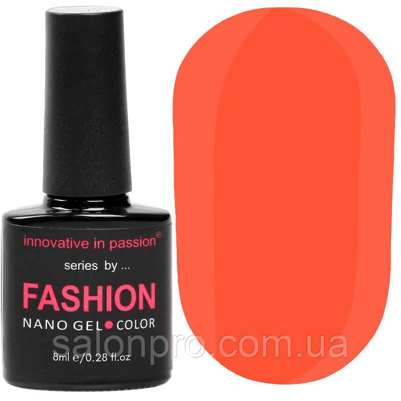 Гель-лак Innovative in Passion серия Fashion № 229 (кораллово-оранжевый, неоновый, эмаль), 8 мл