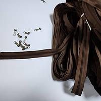 Молния рулонная, цвет: коричневый (мебельная застежка для чехла), фото 1