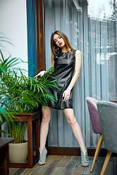 Сукня з еко-шкіри 1230.1 колір чорний