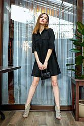 Сукня з замша 1228.3 колір чорний