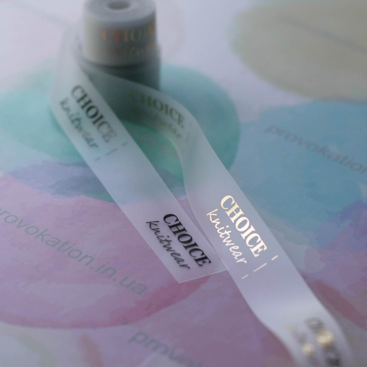 Печать бирок на силиконовой ленте