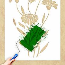 Трафарет цветы ромашки на стену в гостиную, спальню, прихожую 160 х 95 см, фото 3