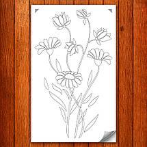 Трафарет цветы ромашки на стену в гостиную, спальню, прихожую 160 х 95 см, фото 2
