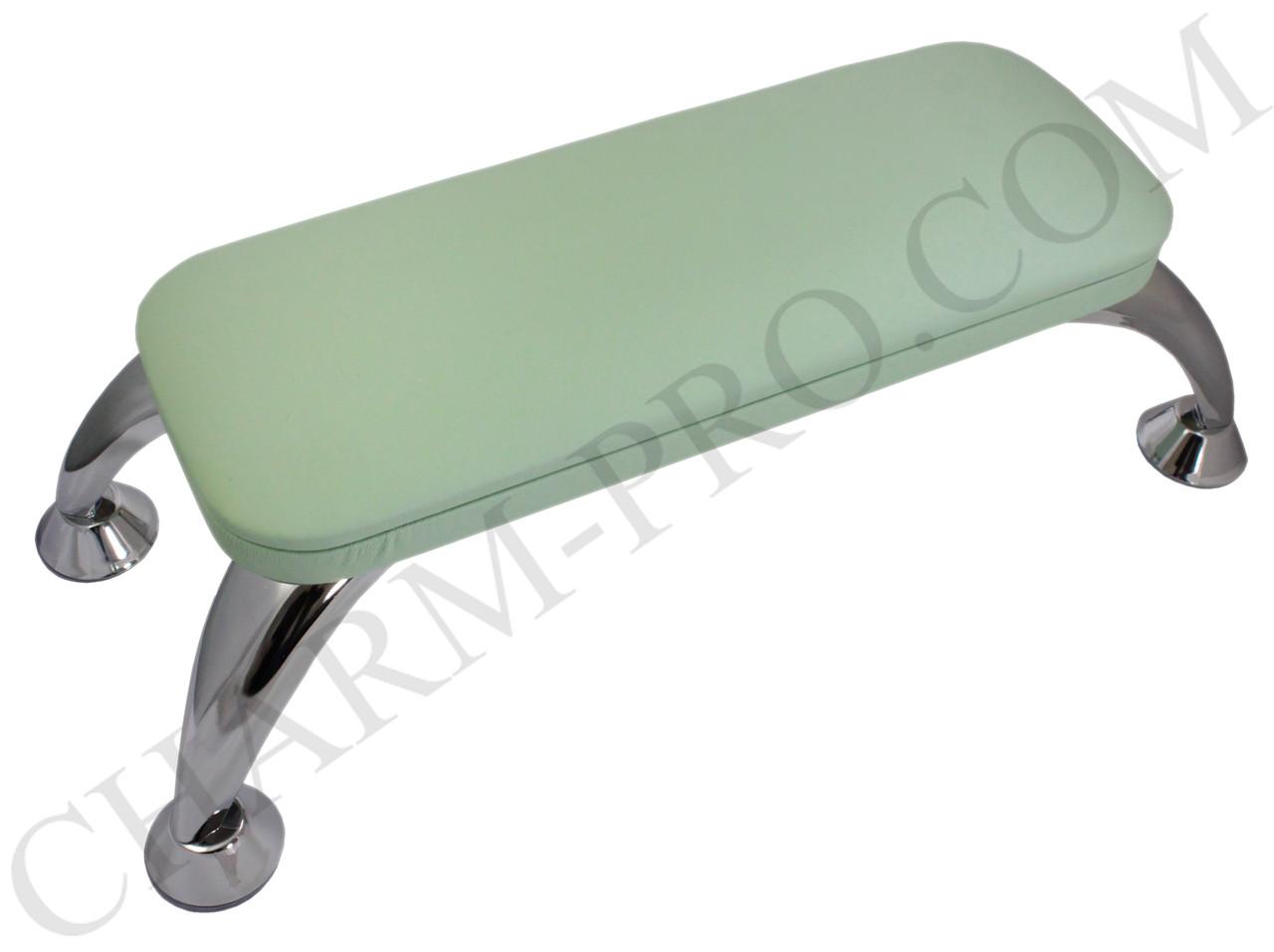 Манікюрна підставка для рук (Підлокітник) Зелений на ніжках