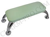 Маникюрная подставка для рук (Подлокотник) Зеленый на ножках