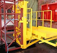 Строительный подъемник мачтовый секционный с выкатной платформой ПМГ г/п 500 кг . Мачтовые подъёмники H- 35  м