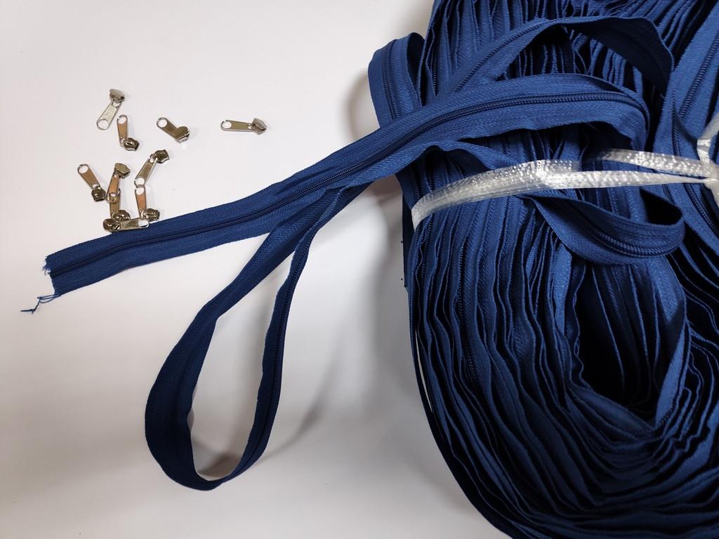Молния рулонная, цвет: синий (мебельная застежка для чехла)