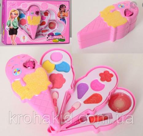 """Детская косметика """"Мороженое"""" 9119: тени, помада, блеск  - набор декоративной детской косметики для девочки"""