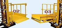 Строительный подъемник-подъёмники мачтовый секционный  г/п-1000 кг. с выкатным лотком. Высота подъёма, м 100
