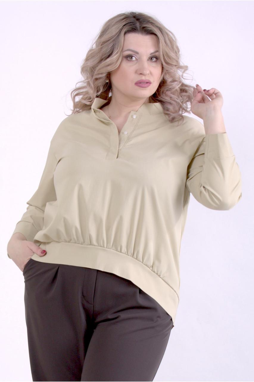 01365-3   Гірчична блузка великого розміру
