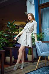 Сукня з замша 1228.3 колір бежевий