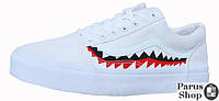 "Женские кеды Vans х BAPE Old Skool ""Shark"" White"