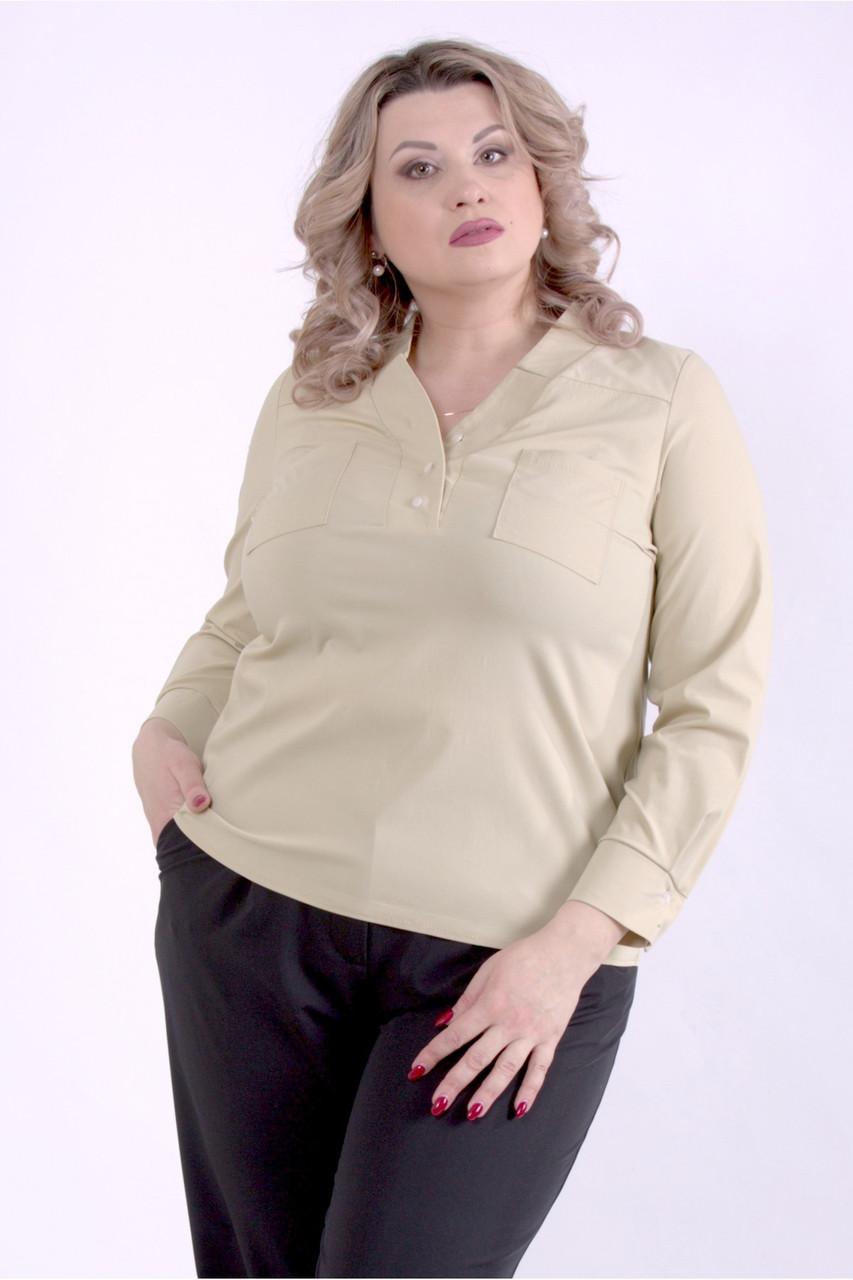 01399-3 | Горчичная блузка большого размера