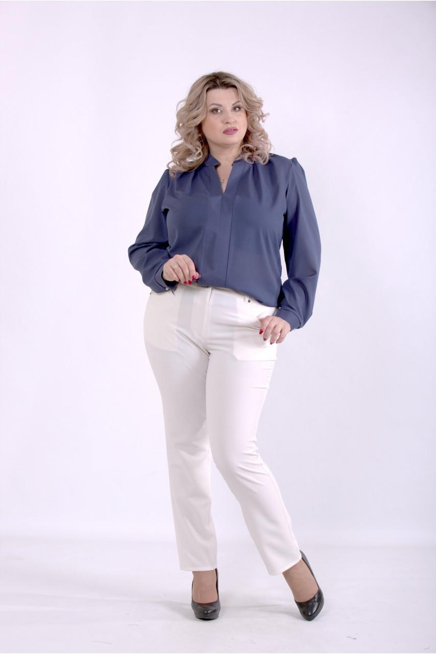 01400-1 | Синяя блузка большого размера