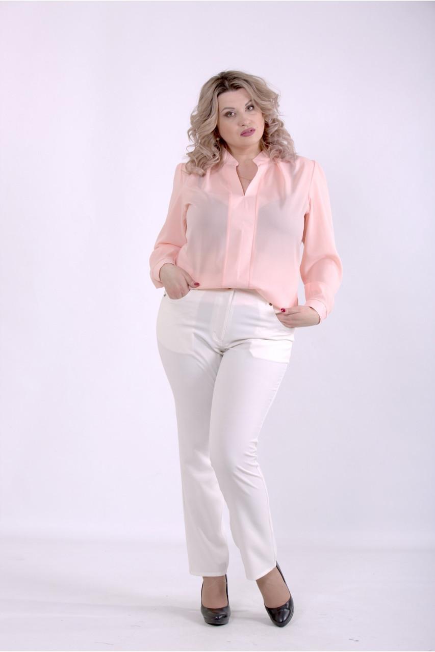 01400-2   Розовая блузка большого размера