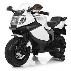 Детский Мотоцикл Bambi белый 3636