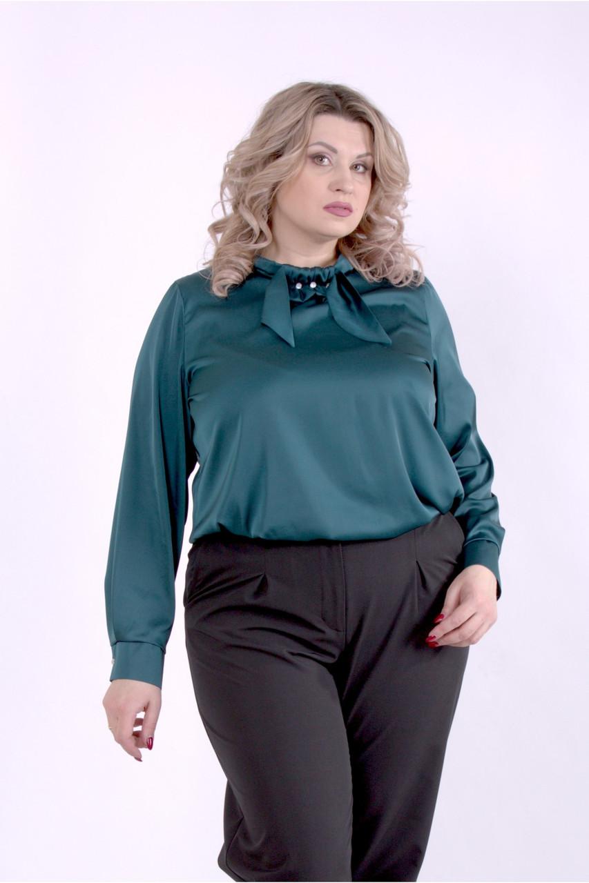 01402-1 | Темно-зеленая блузка большого размера